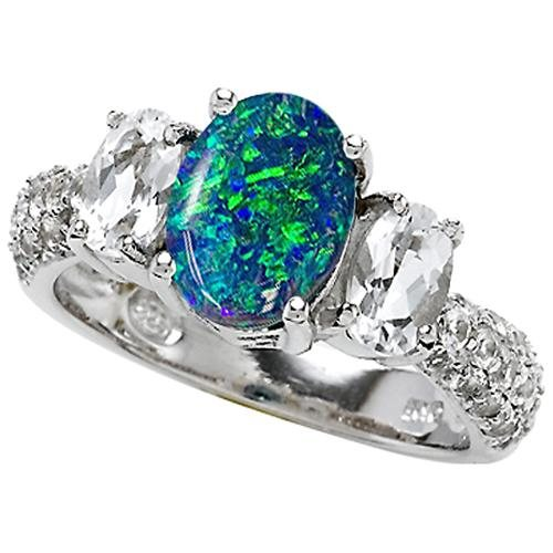 Similiar Blue Opal Wedding Rings Keywords